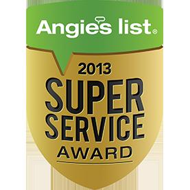 Super Service Award Winner - 2013